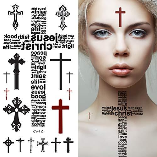 Supperb Temporary Tattoos - Cross Tattoos -