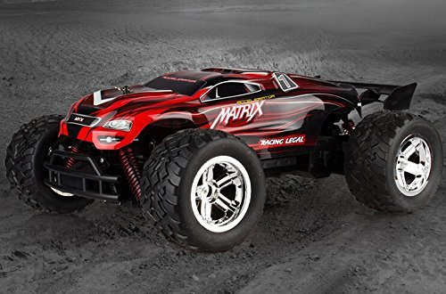 KST 1/12 2.4Ghz Radio Control High Speed 4WD Shaft Drive Truck Four-wheel Drive Car Toy Radio Controlled rc Chargeable Off-road Rock Crawler (Red)