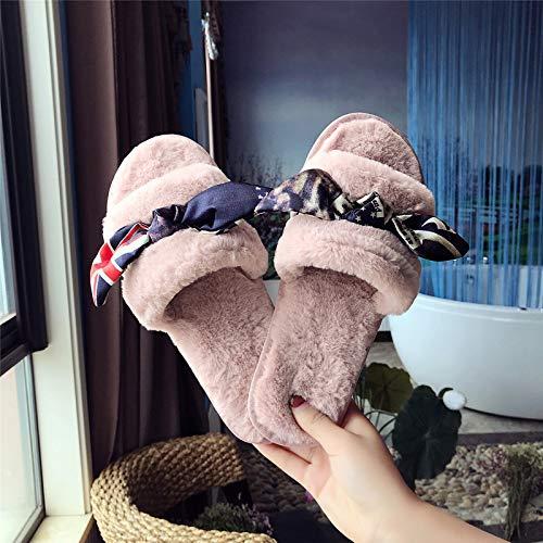 Qsy Pantofole Peluche Shoe Autunno Di Cotone Bianco wR6OwqC