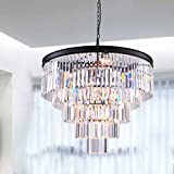 Luxury Modern Crystal Chandelier 12 Lights Pendant Ceiling Light for Dining Room, Living Room (12 Lights)