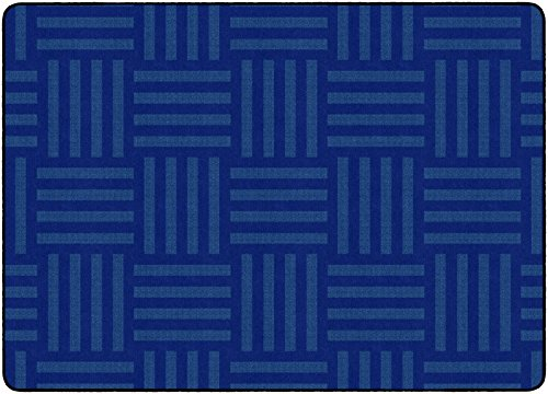 Flagship Carpets FE384-32A Hashtag Tone on Tone Blue (Seats up to 24), Children's Classroom Rug, Rectangle, 6'x8'4' ()