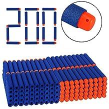 Refill Bullet Darts for Nerf Elite, Dreampark Foam Dart for N-strike Elite 200 PCS Soft Hollow Rubber Tips ( Blue )