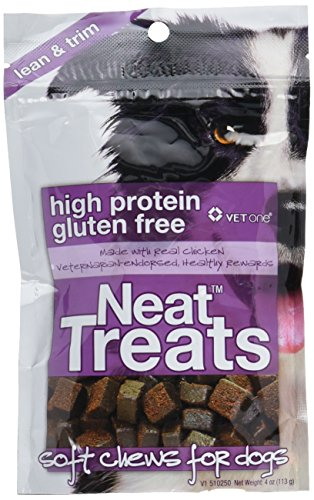 Vet One Neat Treats Soft Chews for Dogs - Veterinarian Formulated High Protein & Gluten Free Training Treat - Real Chicken - 4 oz