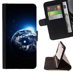 Momo Phone Case / Flip Funda de Cuero Case Cover - Arte Planeta Tierra Universo Cosmos Luna - Samsung Galaxy Core Prime