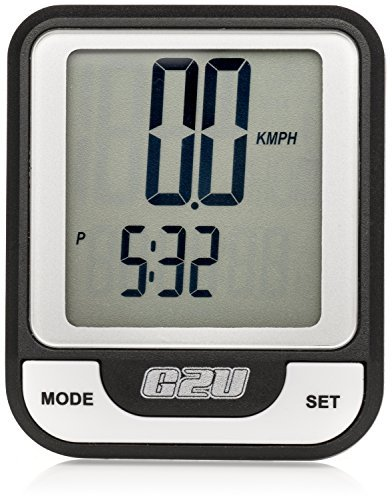 Wireless Bike Computer by Geared2U - Multifunction Bicycle Cyclocomputer - Track Your Time, Distance, Speed, Calories - Fast & Easy To Set-Up & Use by Geared2U