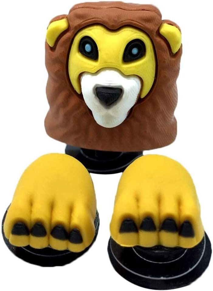 Cute Silly LION Big Cat Zoo Animal Croc Hole Accessories Shoe Charm