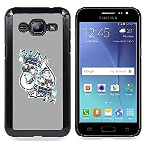 - King Hearts Cards Poker Gambling - - Snap-On Rugged Hard Cover Case Funny HouseFOR Samsung Galaxy J2