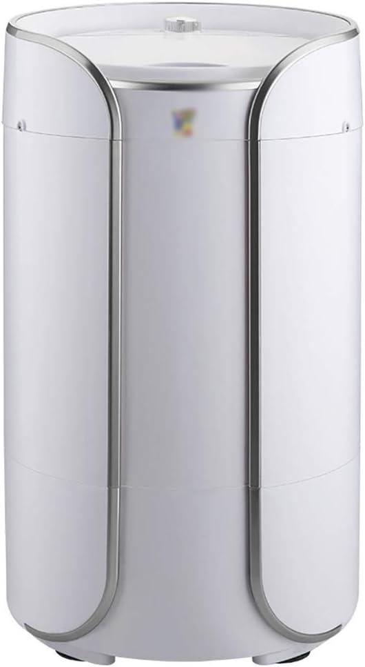 YXWxyj Lavadoras Portátil Mini Solo Cuba de Lavado de la máquina 360 ° Luz Azul esterilización Lavadora de Dormitorio de Estar Balcón Baño (Color : Silver)