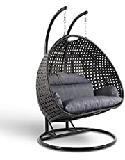 كرسي مرجيحة - أرجوحة - كرسي متأرجح - كرسي معلق - رتان هزاز للاسترخاء والديكور في الليفينج والرووف والبلكونات لشخصين