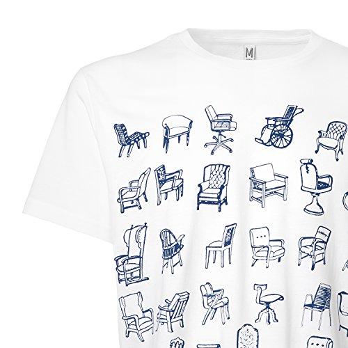 ThokkThokk Chairs T-Shirt dark blue/white aus 100% Biobaumwolle hergestellt // GOTS und Fairtrade zertifiziert