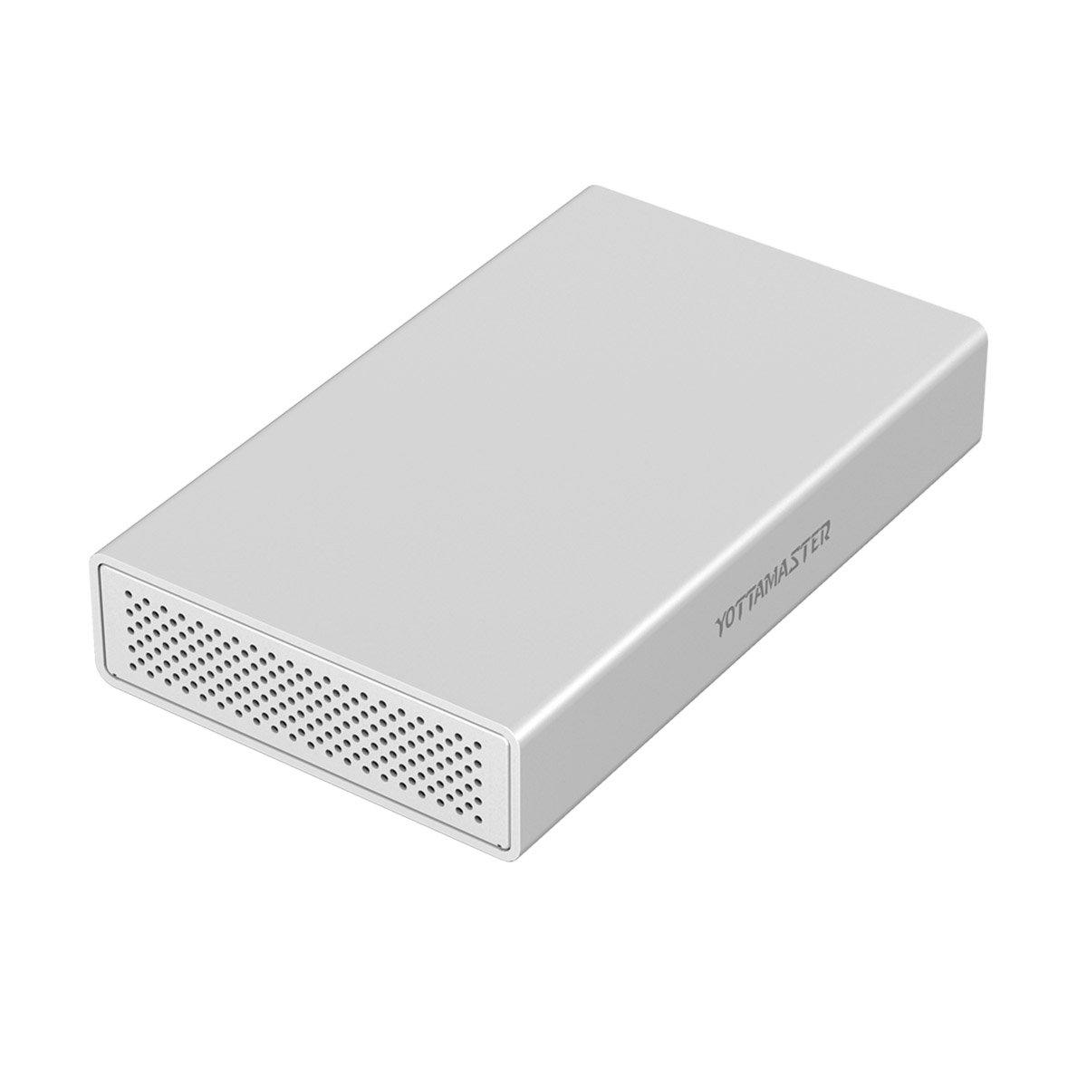 Yottamaster Aluminum USB3.1 Tipo-C Caja de Disco duro de 5 Gbps para 3.5