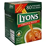 Lyons Pyramid Tea, Original Blend, Tea Bagss, 80-Count Package (Pack of 3)