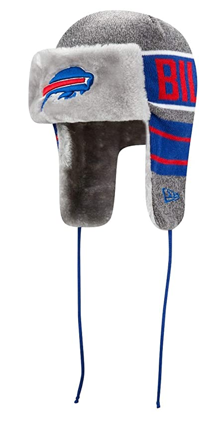 67c32f2c2ad0f Amazon.com   New Era Buffalo Bills NFL Frosty Trapper Fur Lined Knit ...