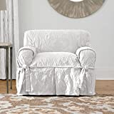 Sure Fit Matelasse Damask 1-Pc Chair-White