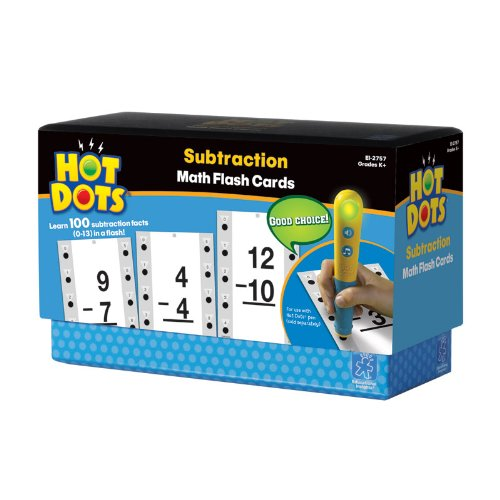 Educational Insights Hot Dots Math Flash Cards - Subtraction