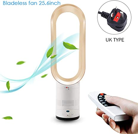 Premium Bladeless Fans with Remote Control for Home,Baby-Room Use@Gold WENZHEN Bladeless Fan Portable Quiet Air Multiplier Tower Floor Standing Cooling Fan