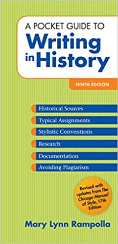 Amazon Com A Pocket Guide To Writing In History Ebook Rampolla