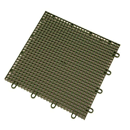 Economy Tile - IncStores Outdoor Sports Tile Basketball Court Flooring (Green, 100 Tiles (10x10 Area))
