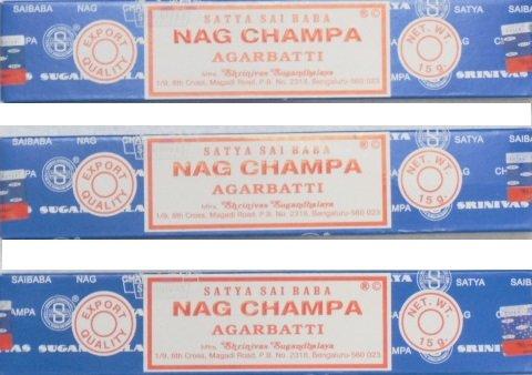 コピーする男らしいサイババナグチャンパ香15g 3箱セット SATYA-02