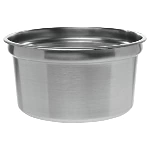 "Winco Stainless Steel Insert Pan for 11 qt Food Warmer - 10 1/2""Dia x 8""D"