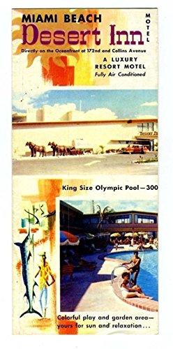 Desert Inn Brochure Luxury Resort Motel Miami Beach Florida 1950S