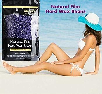 Hair Removal Wax Beans, Colgear Bluezoo No Strip Depilatory Hot Film Hard Wax Pellet Waxing Bikini Hair Removal Bean, for Men Women Facial Arm Legs & Sensitive Areas 8.8 Ouces/bag (Lavender flavor)