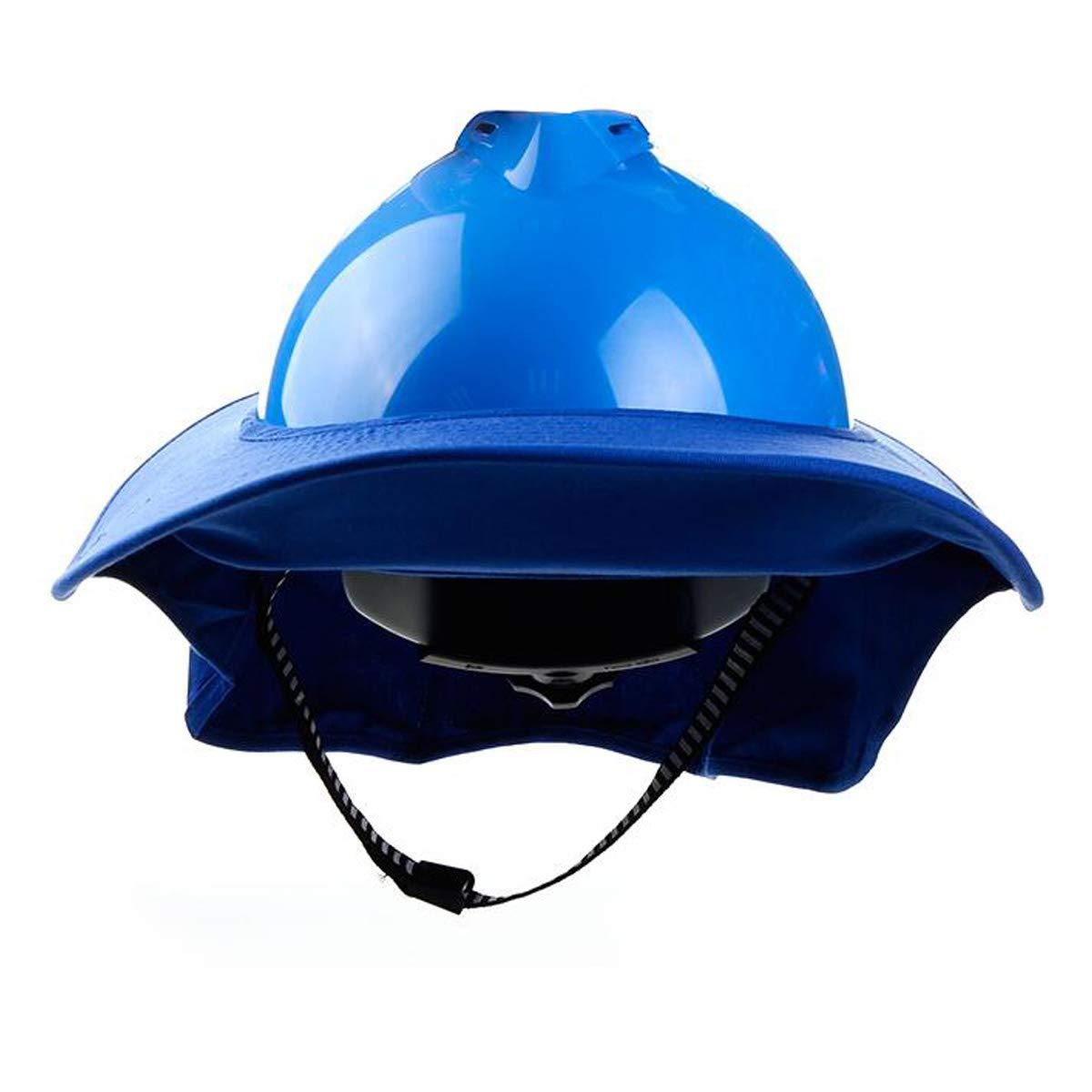 MYAMIA Neck Shield Sun Shade Eye Mask Visor Mask For Brim Safety Hard Hat Protection-Blue