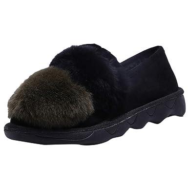 Amazon.com  Cenglings Winter Women s Flat Round Toe Cotton Platform ... ef888f312
