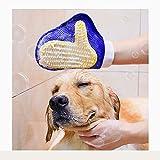 Pet Dog Shower Brush Massage Gloves, Granule Massage Soft Silicone Comfort