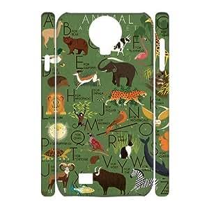 3D [Elephas Maximus] Animal Alphabet Poster Print Elephant Case For Samsung Galaxy S4 {White}