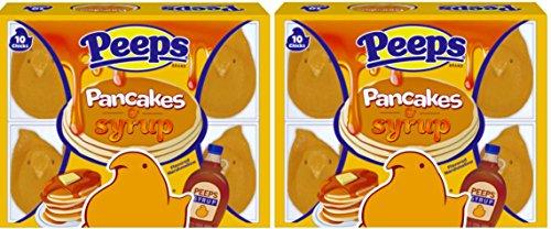 NEW Peeps Pancakes & Syrup Marshmallow Chicks Net Wt 3 Oz (2)