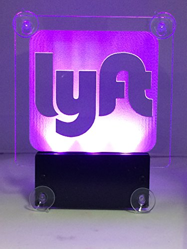Acryled designs LYFT NEW Remote Control LYFT LOGO.Car window LED sign no cord - multicolor light,rechargeable batteries.(LOGO Lyft) by Acryled designs (Image #1)