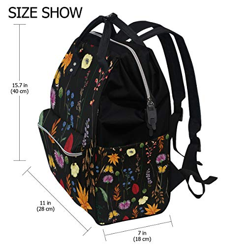 Women Multi3 Cute Backpack Muti Cat Draw Bag Large Mummy for Function Capacity Travel Bag Canvas SxwRxO6q