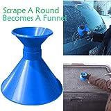Cone Shaped Ice Scraper, Alonea Scrape A Round Magic Cone-Shaped Windshield Ice Scraper Snow Shovel Tool (Blue❤️)