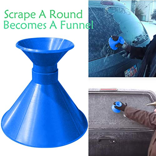 (A Round Ice Scraper GoodLock Car Windshield Snow Removal Magic Cone-Shaped Ice Scraper Snow Shovel Tools Snow Becomes A Funnel)