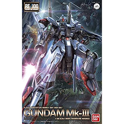 Bandai Hobby RE/100 Gundam Mark III Model Kit: Toys & Games