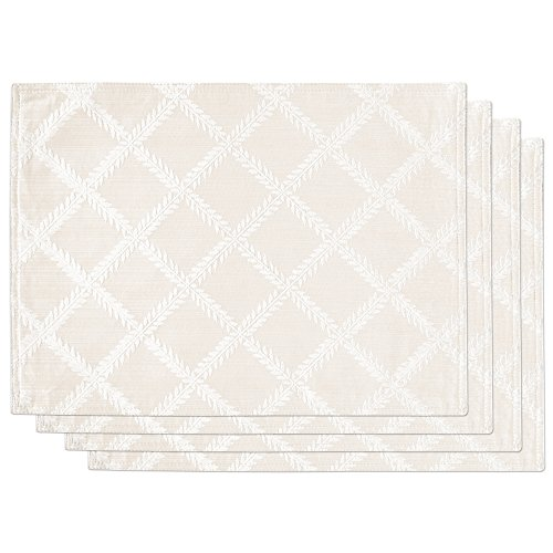 Lenox Laurel Leaf Set of 4 Placemats, White