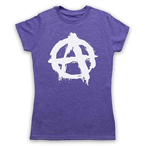 Anarchy Logo Camiseta para Mujer Morado Clásico