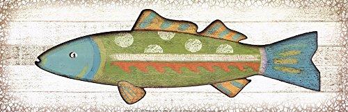 Folk Art Fish II Art Print, 36 x 12 (Folk Art Fish)