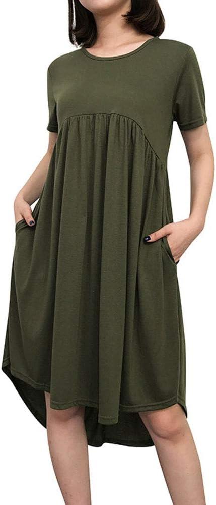 Kanggest.Vestido Largo Mujer Obeso Talla Grande en Cuello V Moda ...