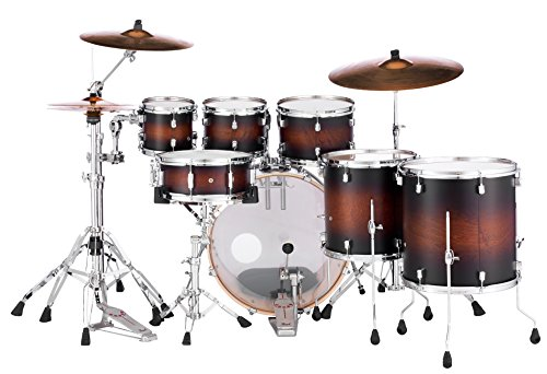 Amazon Pearl DMP927SP C Decade Maple 7 PC Drum Shell Pack Satin Brown Burst W Bass Muffler Musical Instruments