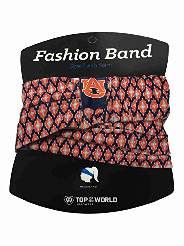 Top of the World Auburn Tigers TOW Women's Orange & Navy Ultra Soft Kitty Fashion Headband by Top of the World
