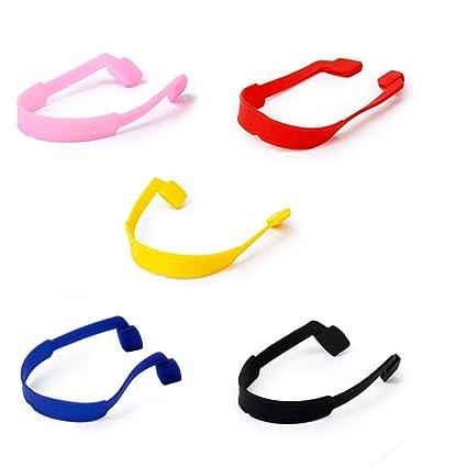 Healifty Sujetador de cadena de silicona para gafas Gafas antideslizantes Gafas de sol deportivas Correa con