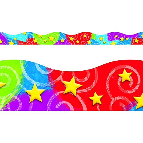 (TREND enterprises, Inc. Stars 'n Swirls Terrific Trimmers, 39 ft)