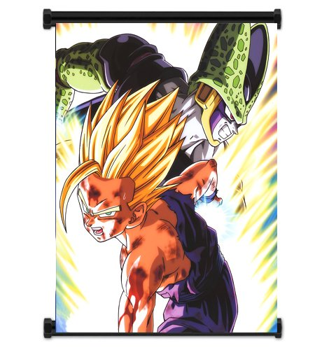 Gohan vs Cell Fabric Wall Scroll Poster (16x21) Inches. [WP]DragonBallZ-77 (Dragon Ball Z Gohan Vs Cell)