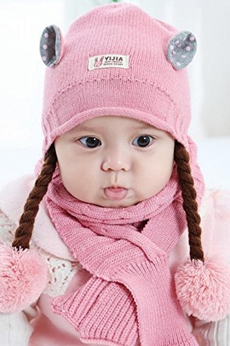 Generic Baby hat in autumn and winter 0 a 1 year old women girl baby  princess cute Korean wig braids wool hat ear  Amazon.ca  Home   Kitchen e6ff4815f04