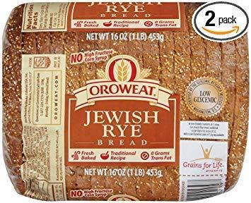 Oroweat Sliced Bread 16oz - 24oz Loaf (Pack of 2) Choose Flavor Below (Jewish Rye - Jewish Bread