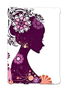 Resignmjwj Case Cover Girl With Flowers/ Fashionable Case For Ipad 2/3/4