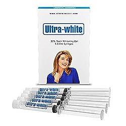 Ultra White 22% Teeth Whitening Gel Large 5 Tubes 3.8 ml of Gel