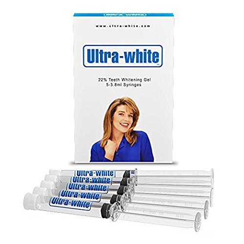 Ultra White 22% Teeth Whitening Gel Large 5 Tubes 3.8 ml of Gel